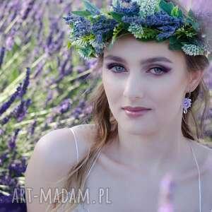 fioletowe ślub ślubny sutasz - delikatny naszyjnik