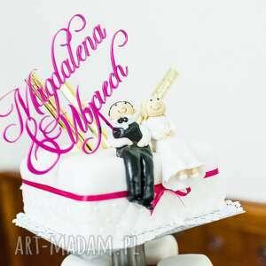 ślub tort spersonalizowany topper na