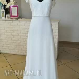 wyraziste ślub suknia ślubna nowa, model z salonu