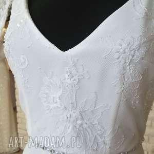 białe ślub suknia ślubna nowa, model z salonu