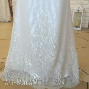 LAURIS HandMade suknia ślubna ester nowa model z salonu rozm. 36 wyprzedaż! panna młoda