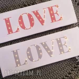 ślub świecący napis love prezent