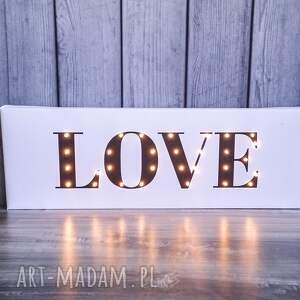 intrygujące ślub love świecący napis prezent