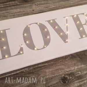 COSnieCOS ślub: świecący napis love prezent dekoracja pokój dziecka sesja fotograficzna wesele