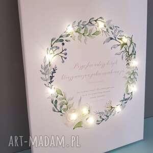 wianek ślub świecący obraz led prezent