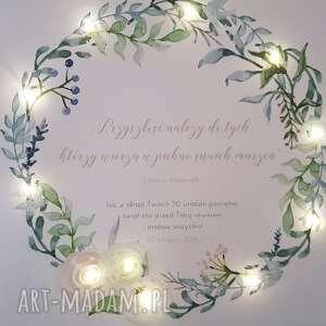ślub wianek świecący obraz led prezent