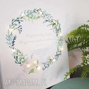 frapujące ślub wianek świecący obraz led prezent