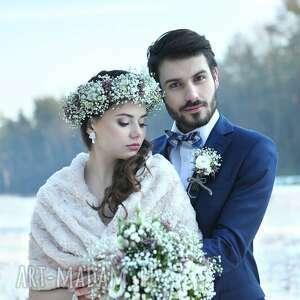 niepowtarzalne ślub szal ślubny beżowy