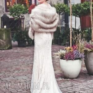 atrakcyjne ślub szal z eko lisa