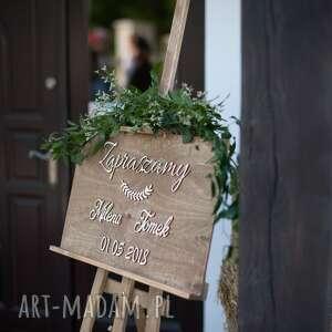 Hagal ślub drewniana tablica powitalna na wesele /