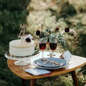 tort ślub topper na - miłość jest
