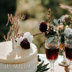 ślub topper na tort - miłość jest