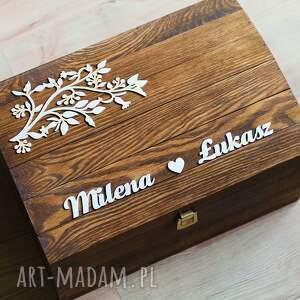 obrączki ślub zestaw pudełek z gałązkami