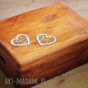pudełko ślub zestaw pudełek - na obrączki i