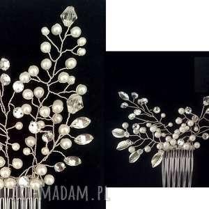 srebrne ślub fryzura zjawiskowa aplikacja ozdoba ślubna