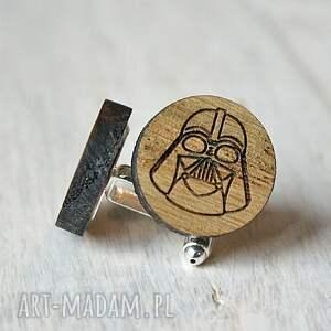 ciekawe spinki do mankietów drewniane dębowe