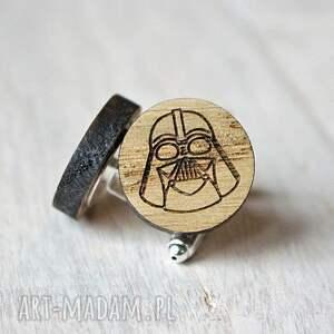 drewniane spinki do mankietów beżowe dębowe
