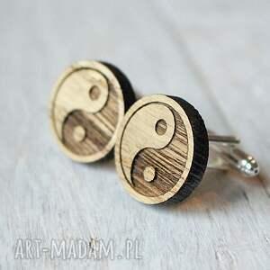 ciekawe spinki do mankietów dębowe drewniane