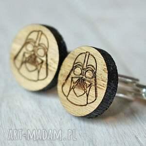 brązowe spinki do mankietów dębowe drewniane