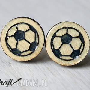 srebrne spinki do mankietów drewniane do piłka