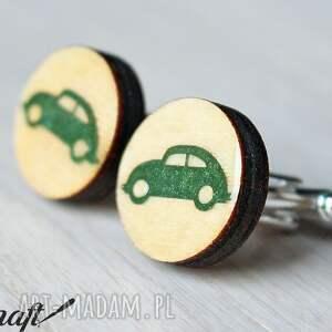 handmade spinki do mankietów drewniane auto
