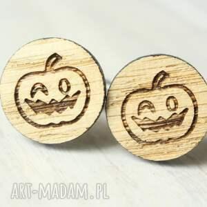 srebrne spinki do mankietów drewniane