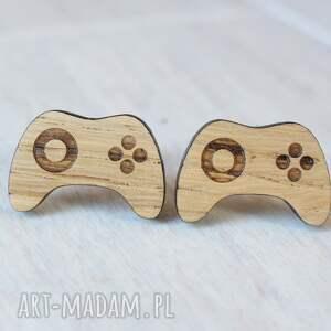 handmade spinki do mankietów drewniane