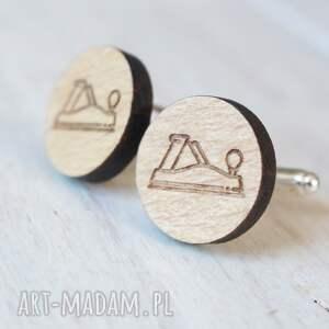drewniane spinki do mankietów hebel - oryginalne