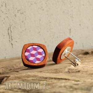 ręcznie robione spinki do mankietów geometryczne