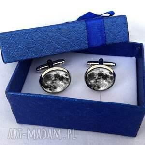 srebrne spinki do mankietów głośniki