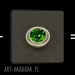 luksusowe spinki do mankietów (zielone) lukato - ręcznie zrobione mężczyzna