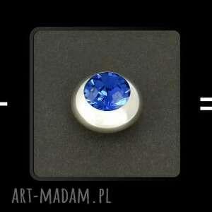 luksusowe spinki do mankietów (niebieskie) lukato mężczyzna