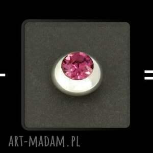 luksusowe spinki do mankietów (różowe) lukato mężczyzna