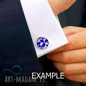czarne spinki do mankietów męska-biżuteria koszuli ::