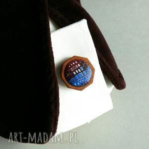 niebieskie spinki do mankietów mężczyzna ręcznie robione