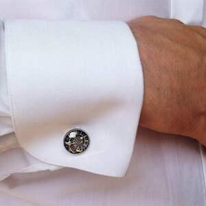modne spinki do mankietów szkocja szkocka kratka -
