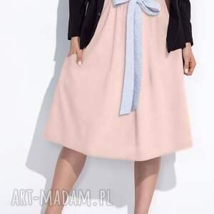 hand made spódnice midi bien fashion różowa spódnica