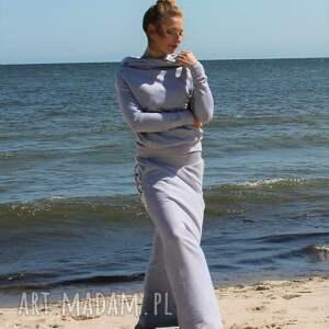 spódnice spódnica bluza z komino -kapturem i
