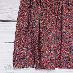 niekonwencjonalne spódnice drobne kwiatki burgundowa spódniczka w urocze