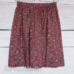 niekonwencjonalne spódnice burgundowa spódnica spódniczka w urocze