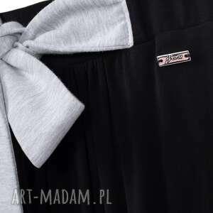hand-made spódnice long czarna spódnica do kostek z kokardą