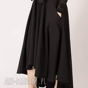 trendy spódnice elegancka czarna spódnica maxi z
