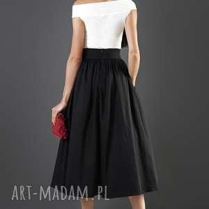 spódnice elegancka czarna spódnica midi