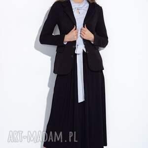hand-made spódnice maxi czarna spódnica do kostek z kokardą