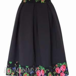 oryginalne spódnice spódnica-midi czarna spódnica folk