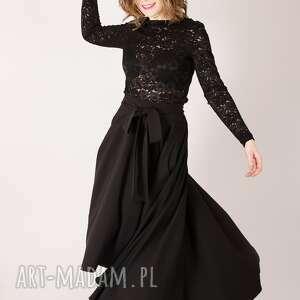 1e4b95aec1ed czarna spódnica maxi z koła - non tess