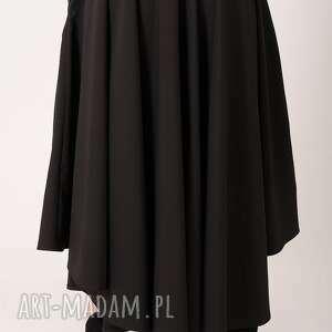 spódnice prosta czarna spódnica maxi z