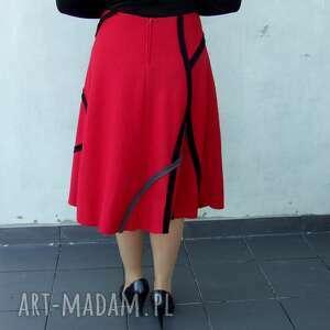 czerwone spódnice spódnica czerwona midi