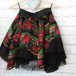 frapujące spódnice spódnica damska czarna góralska