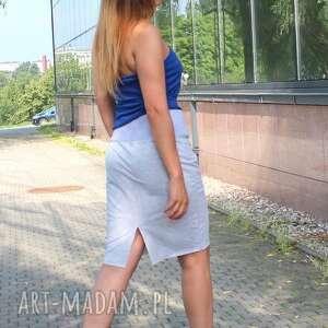 spódnica spódnice dresowa z szerokim pasem doskonała
